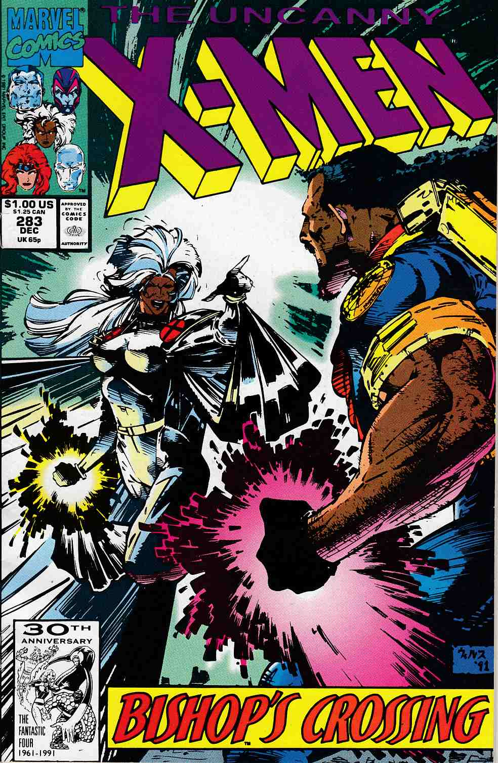 Uncanny X-Men #283 Near Mint (9.4) [Marvel Comic] LARGE