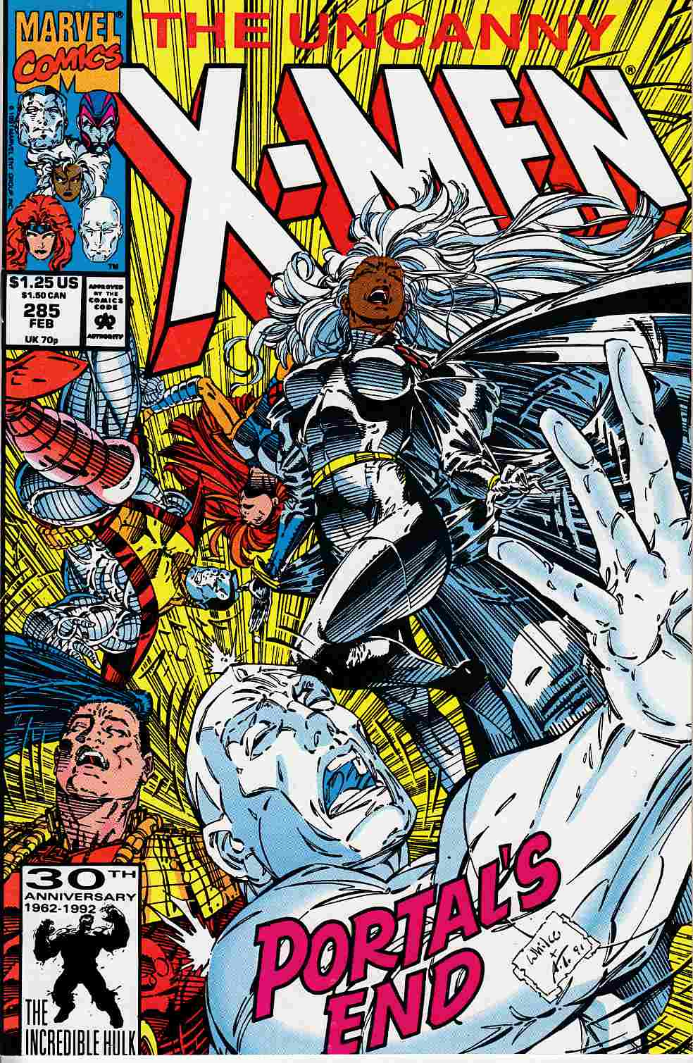 Uncanny X-Men #285 Very Fine (8.0) [Marvel Comic] LARGE
