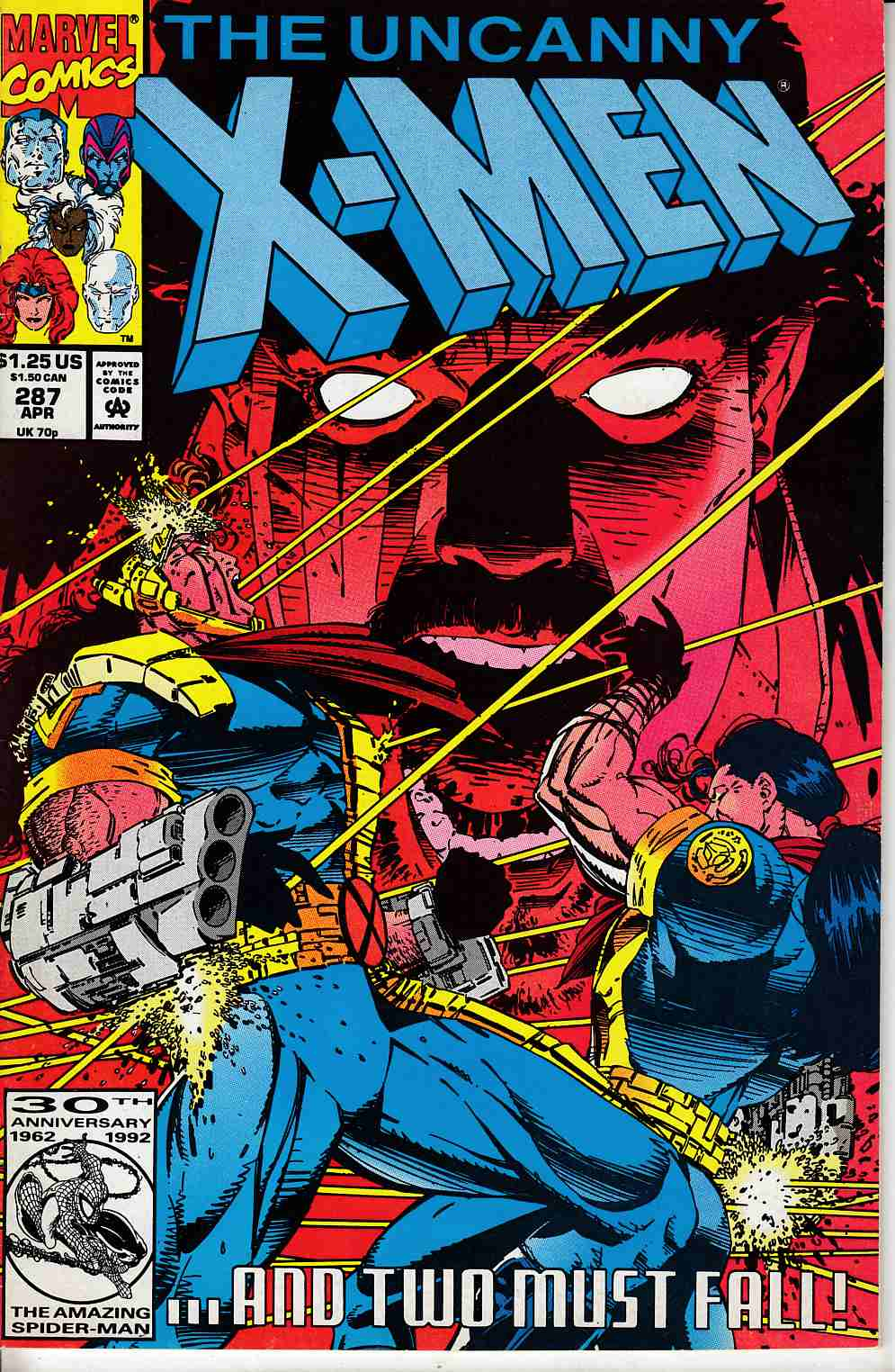 Uncanny X-Men #287 Fine Minus (5.5) [Marvel Comic] LARGE