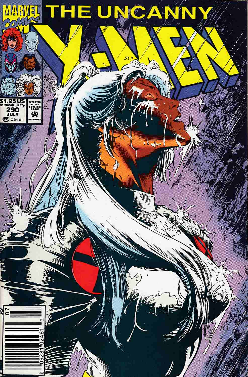 Uncanny X-Men #290 Newsstand Edition Very Fine Minus (7.5) [Marvel Comic] LARGE