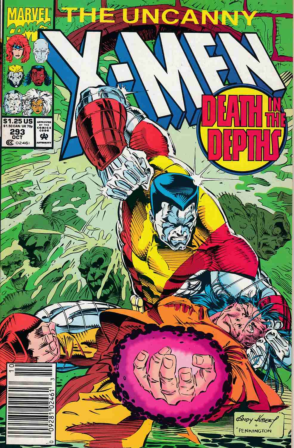 Uncanny X-Men #293 Newsstand Edition Near Mint Minus (9.2) [Marvel Comic] LARGE