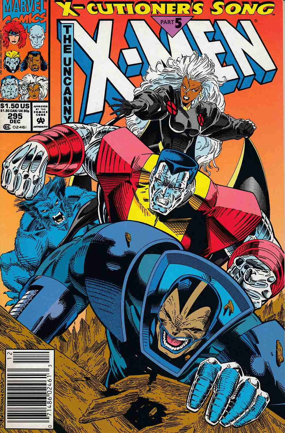 Uncanny X-Men #295 Newsstand Edition  Very Fine Minus (7.5) [Marvel Comic] LARGE