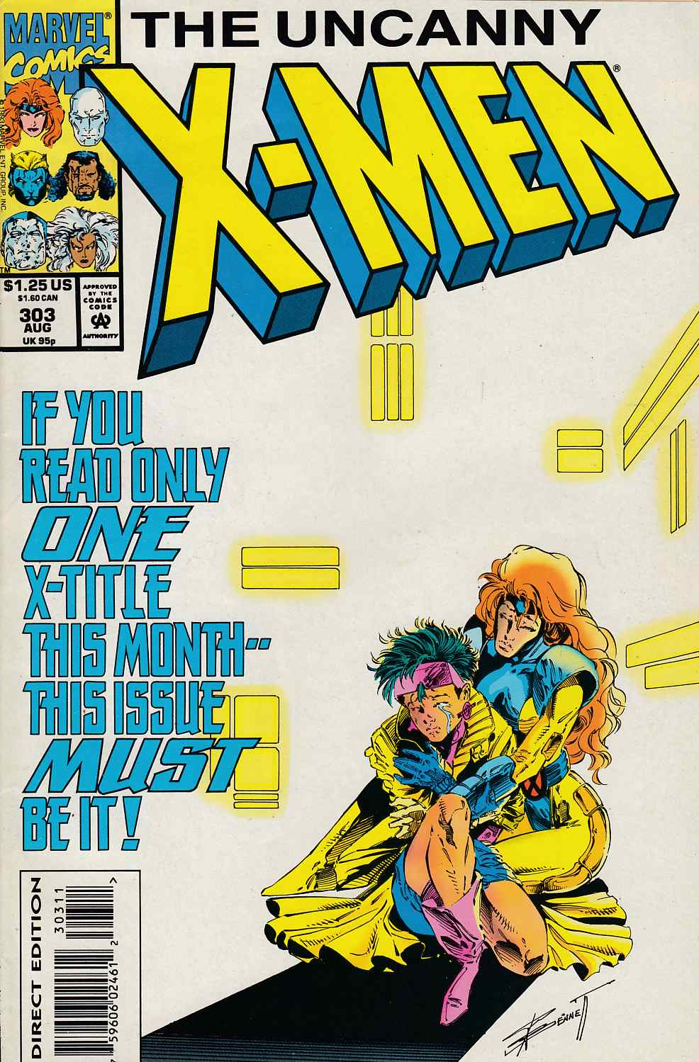 Uncanny X-Men #303 Very Fine (8.0) [Marvel Comic] LARGE