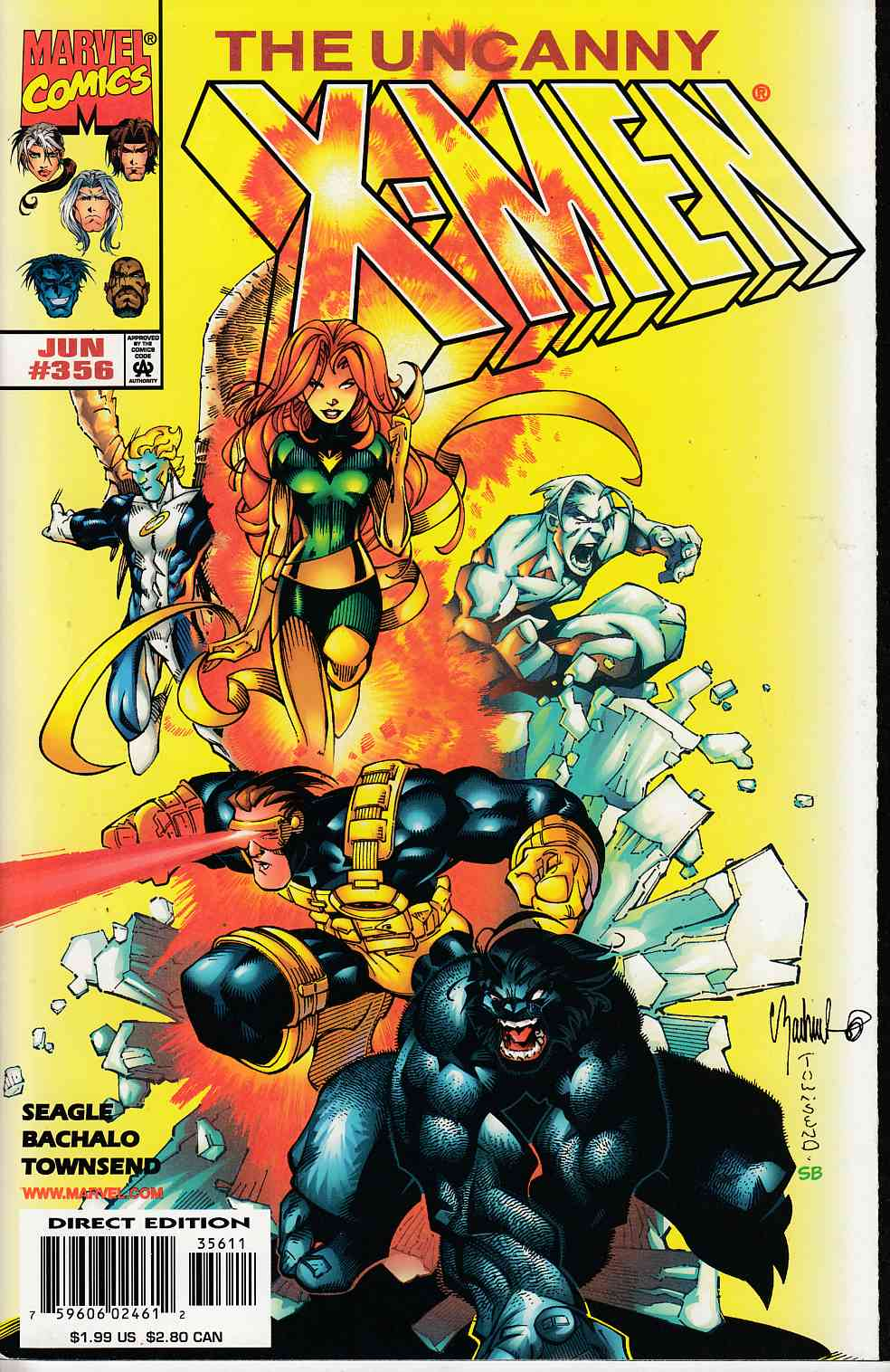 Uncanny X-Men #356 Near Mint (9.4) [Marvel Comic] LARGE