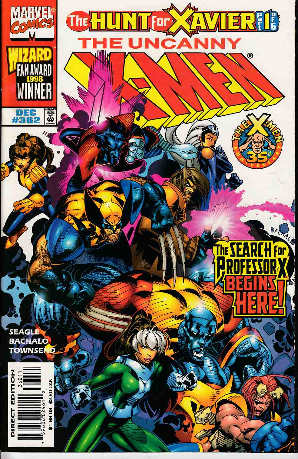 Uncanny X-Men #362 Near Mint (9.4) [Marvel Comic] LARGE