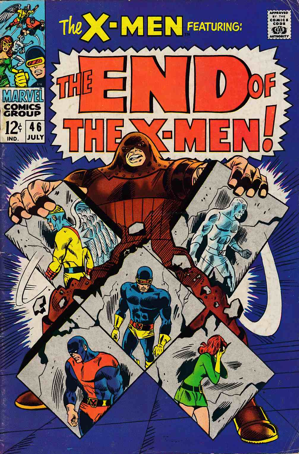 Uncanny X-Men #46 Very Good (4.0) [Marvel Comic] THUMBNAIL