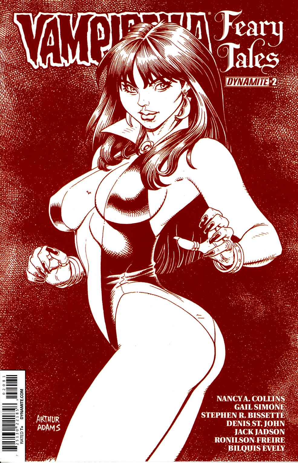 Vampirella Feary Tales #2 Cover F- Adams Blood Red Incentive [Dynamite Comic]