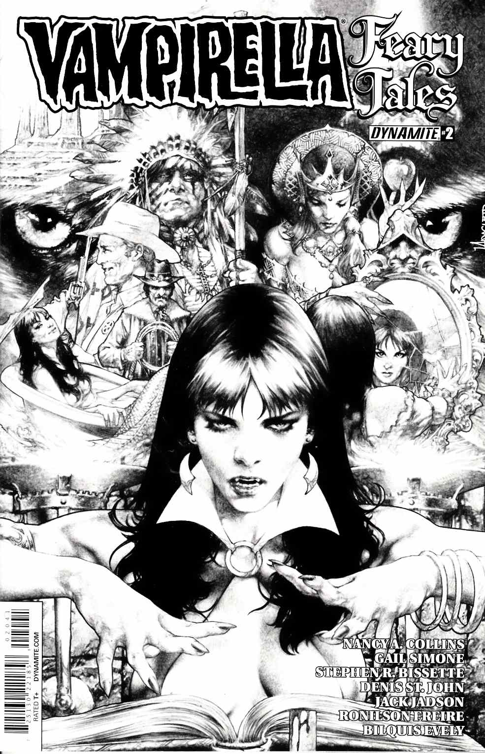 Vampirella Feary Tales #2 Cover D- Anacleto B&W Incentive [Dynamite Comic]