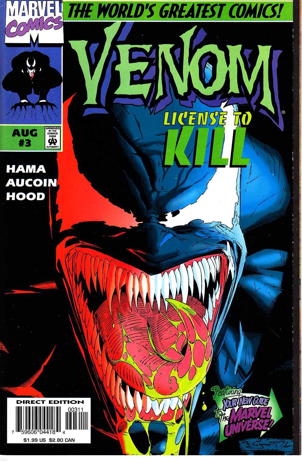 Venom License To Kill #3 [Marvel Comic]