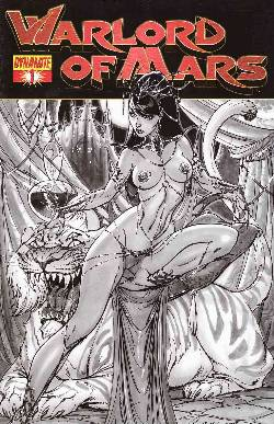 Warlord of Mars #1 Campbell B&W Incentive Cover [Comic] LARGE