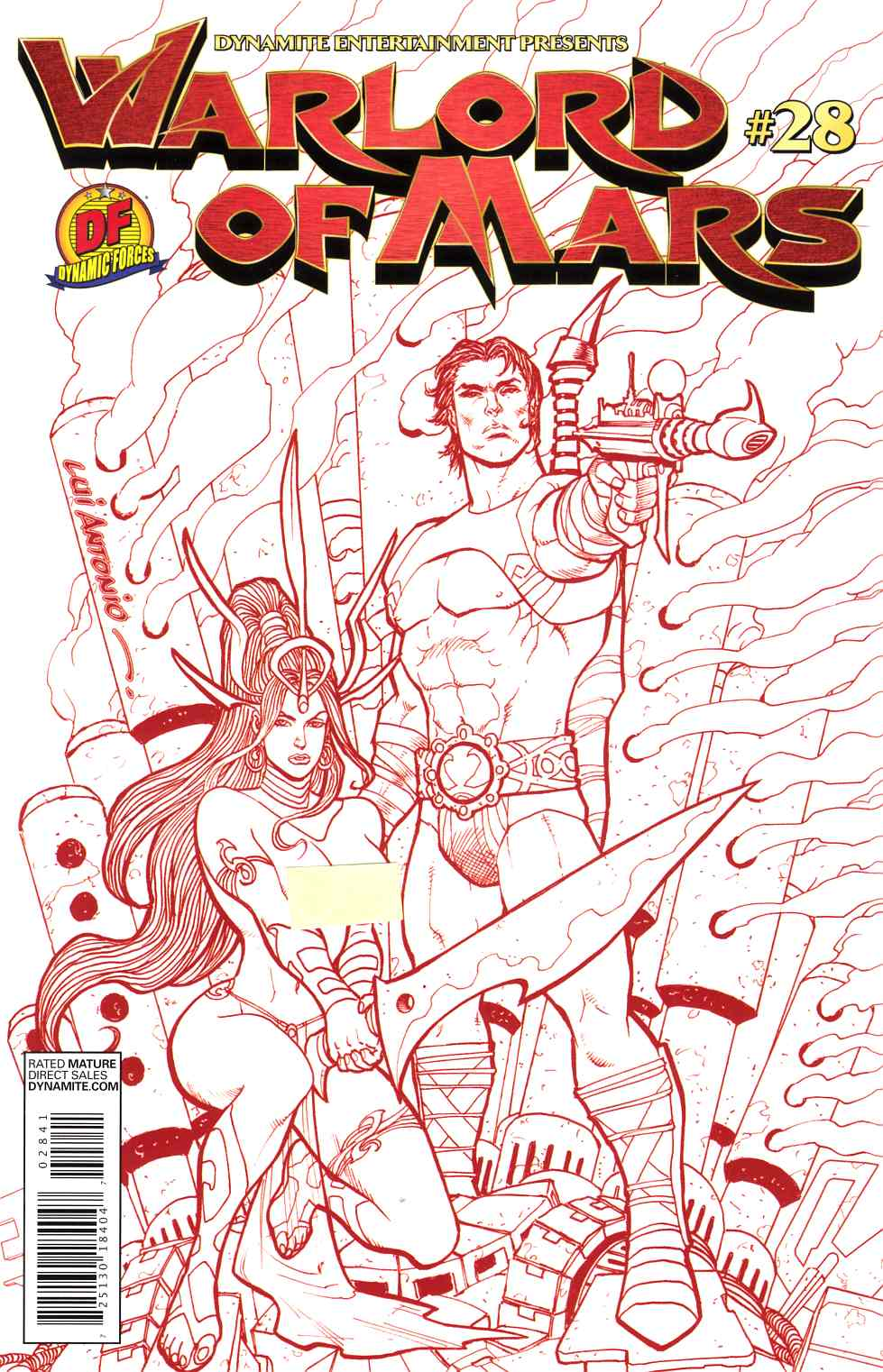 Warlord of Mars #28 DF Red Risque Exclusive Edition [Comic]