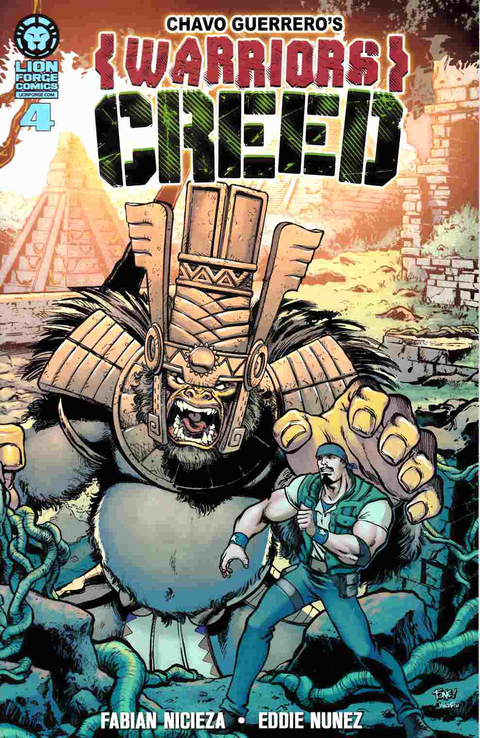 Chavo Guerreros Warriors Creed #4 [Lion Forge Comic] LARGE