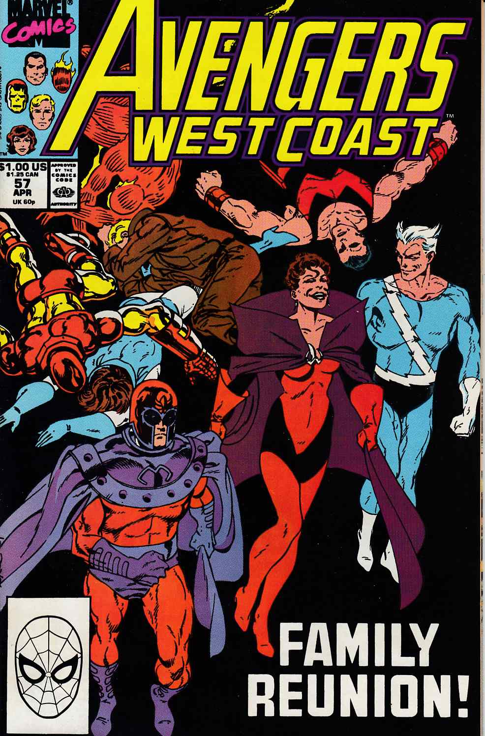 Avengers West Coast #57 Fine (6.0) [Marvel Comic] LARGE