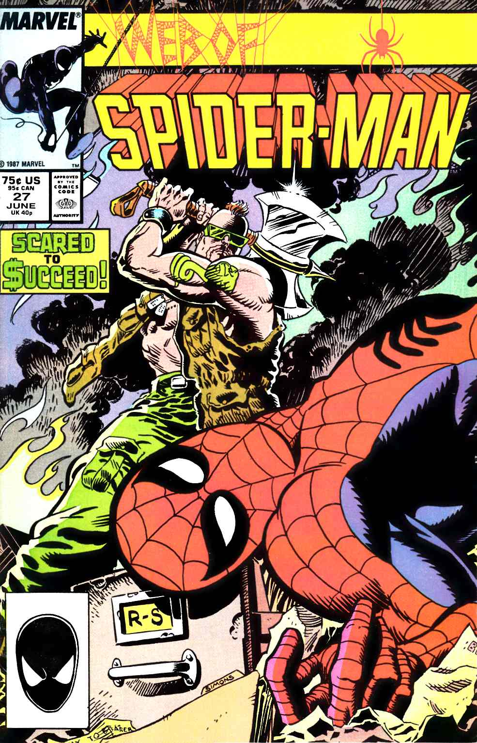 Web of Spider-Man #27 Fine (6.0) [Marvel Comic] LARGE