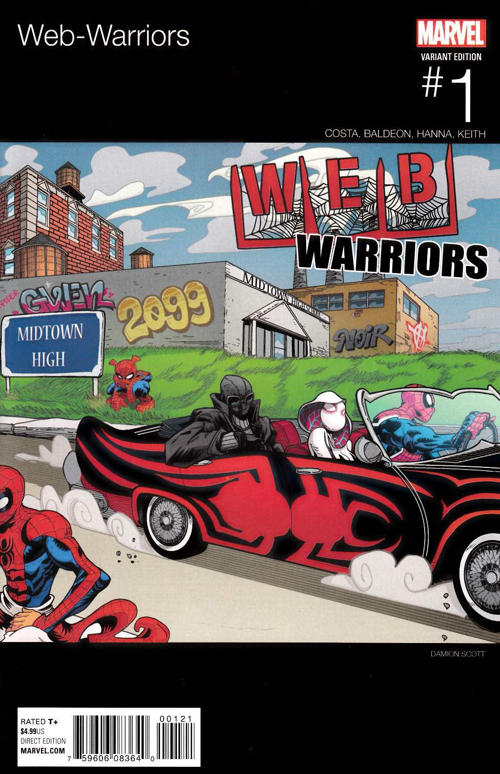 Web Warriors #1 Scott Hip Hop Variant Cover [Marvel Comic] THUMBNAIL