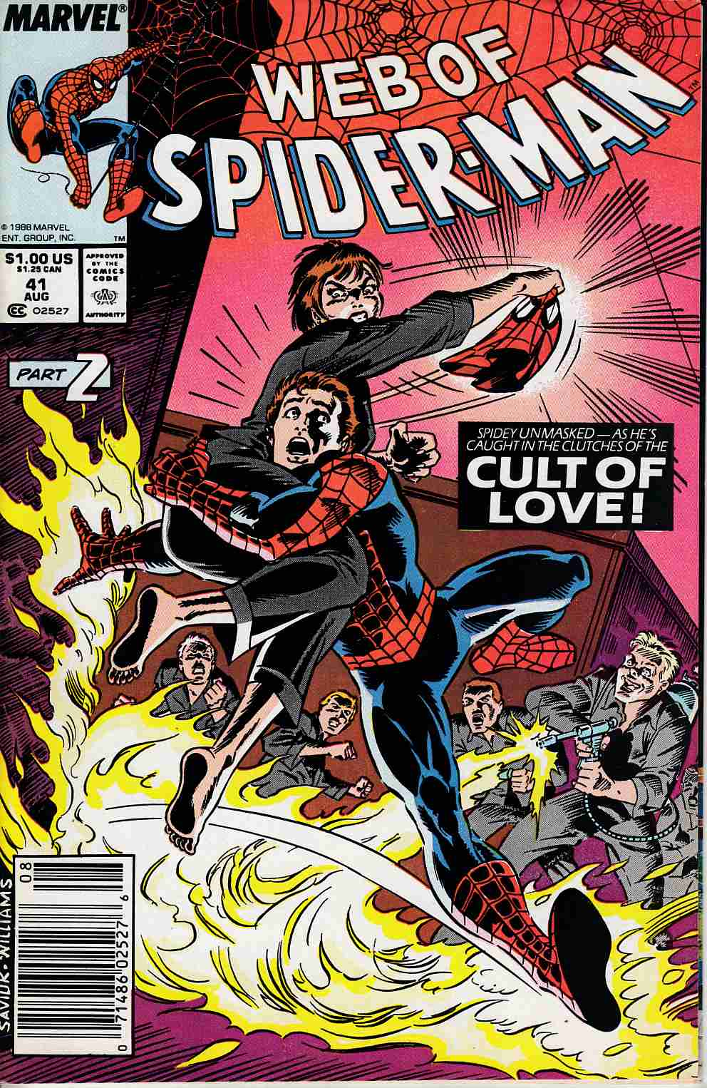 Web of Spider-Man #41 Newsstand Edition Fine (6.0) [Marvel Comic] LARGE