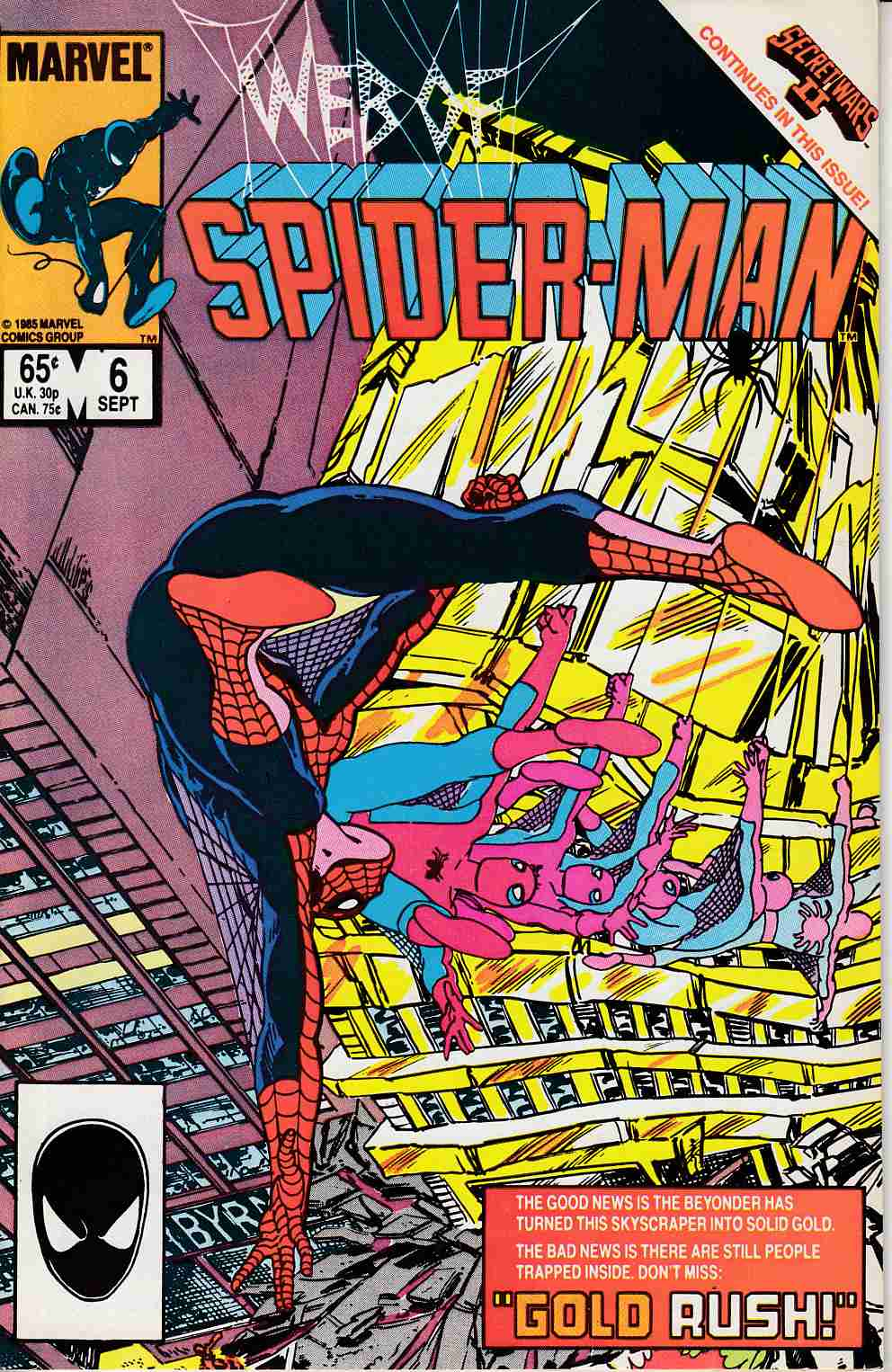 Web of Spider-Man #6 Near Mint (9.4) [Marvel Comic] LARGE