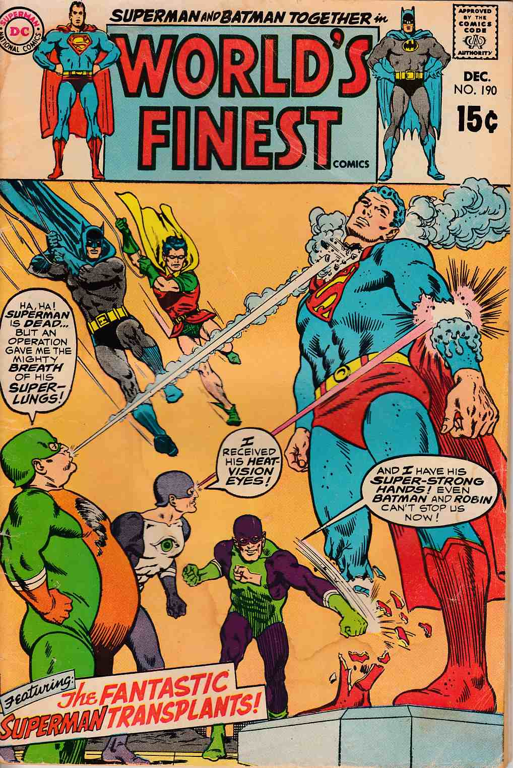 Worlds Finest #190 Good (2.0) [DC Comic] LARGE
