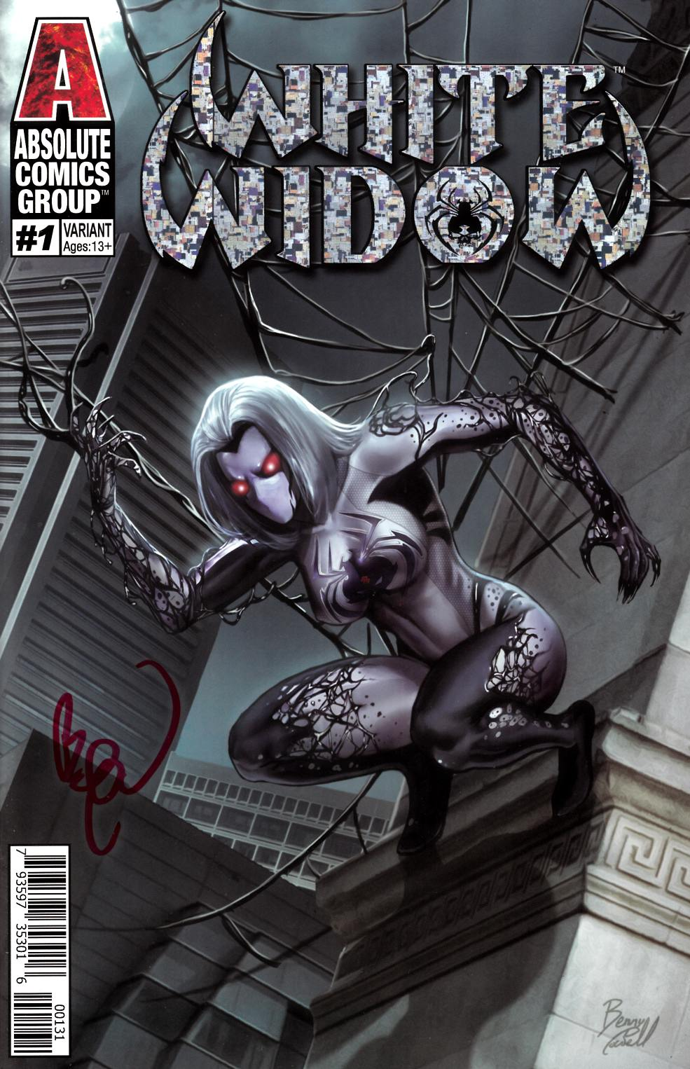 White Widow #1 Variant Cover Signed by Powell Very Fine (8.0) [Absolute Comic] THUMBNAIL