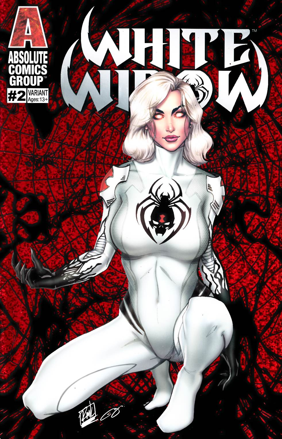 White Widow #2 Blood Webs Variant Cover Very Fine (8.0) [Absolute Comic] THUMBNAIL