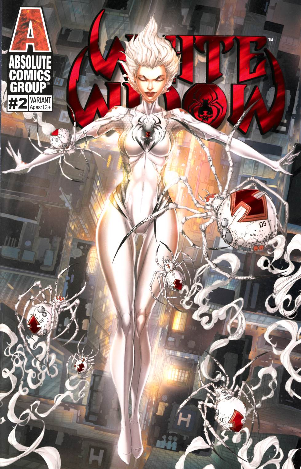 White Widow #2 Nightfall Variant Cover Near Mint (9.4) [Absolute Comic] THUMBNAIL