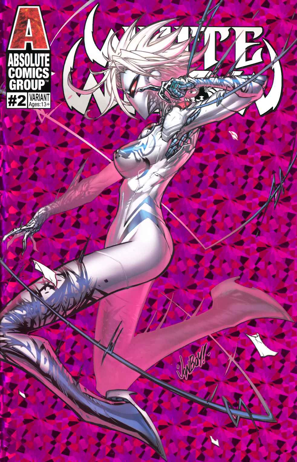 White Widow #2 Pretty in Pink Variant Cover Near Mint (9.4) [Absolute Comic] THUMBNAIL