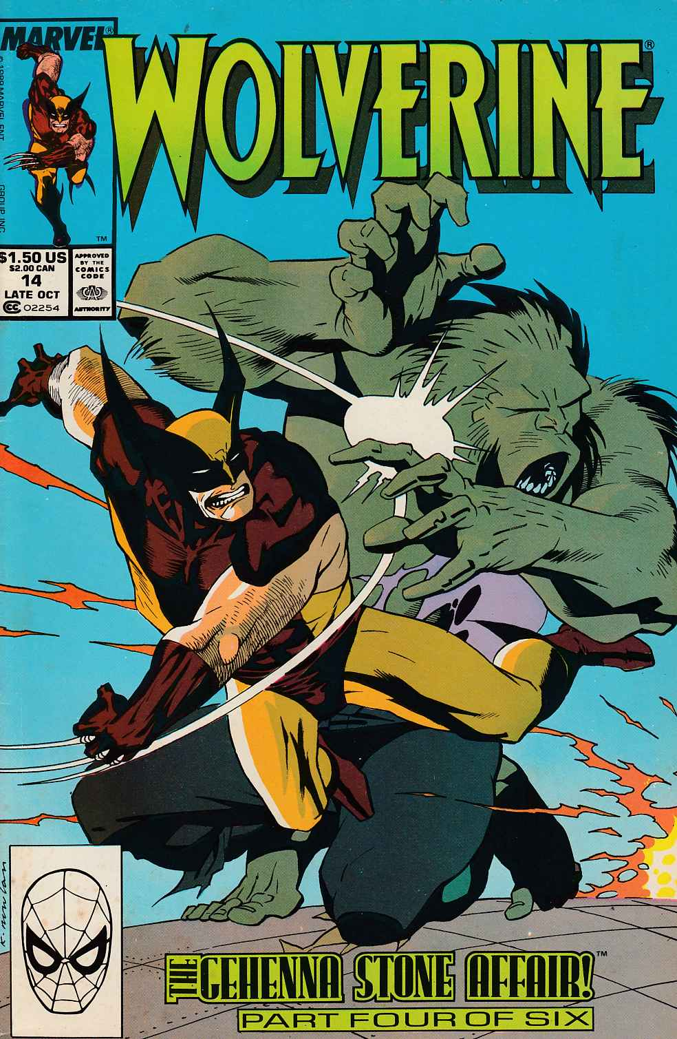 Wolverine #14 Very Good (4.0) [Marvel Comic] THUMBNAIL
