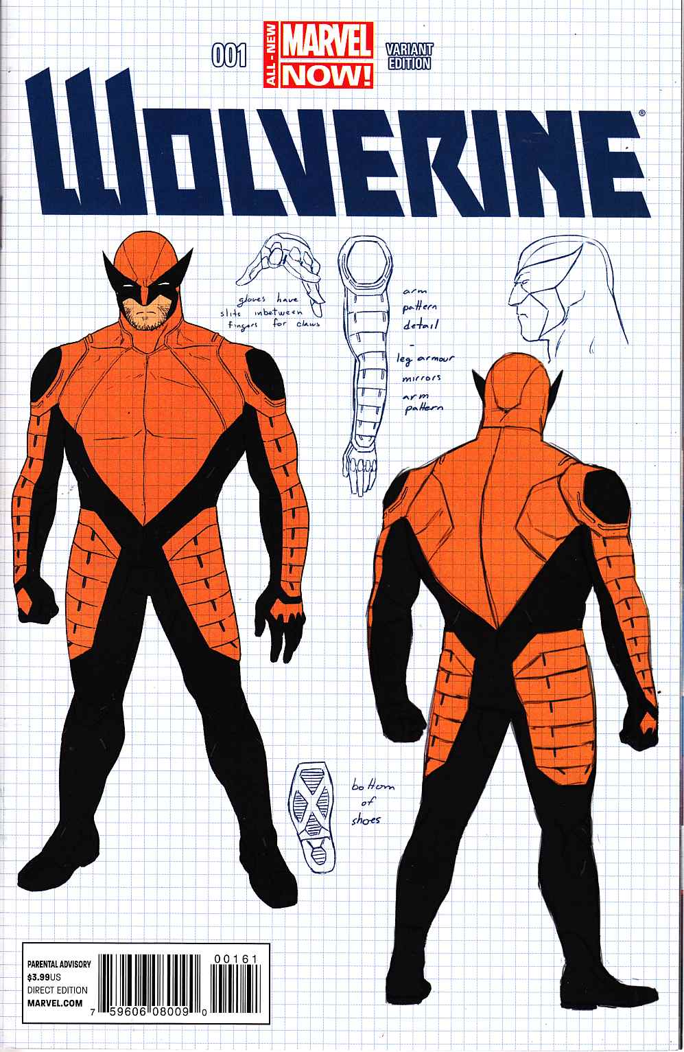 Wolverine #1 Design Variant Cover [Marvel Comic] THUMBNAIL