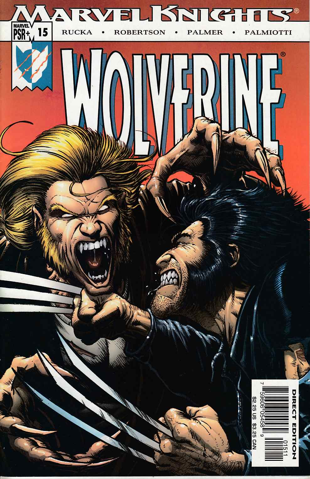 Wolverine #15 Very Fine (8.0) [Marvel Comic] THUMBNAIL