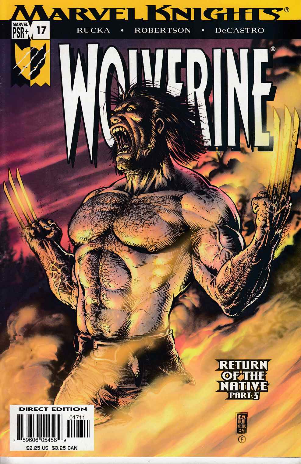 Wolverine #17 Near Mint (9.4) [Marvel Comic] THUMBNAIL
