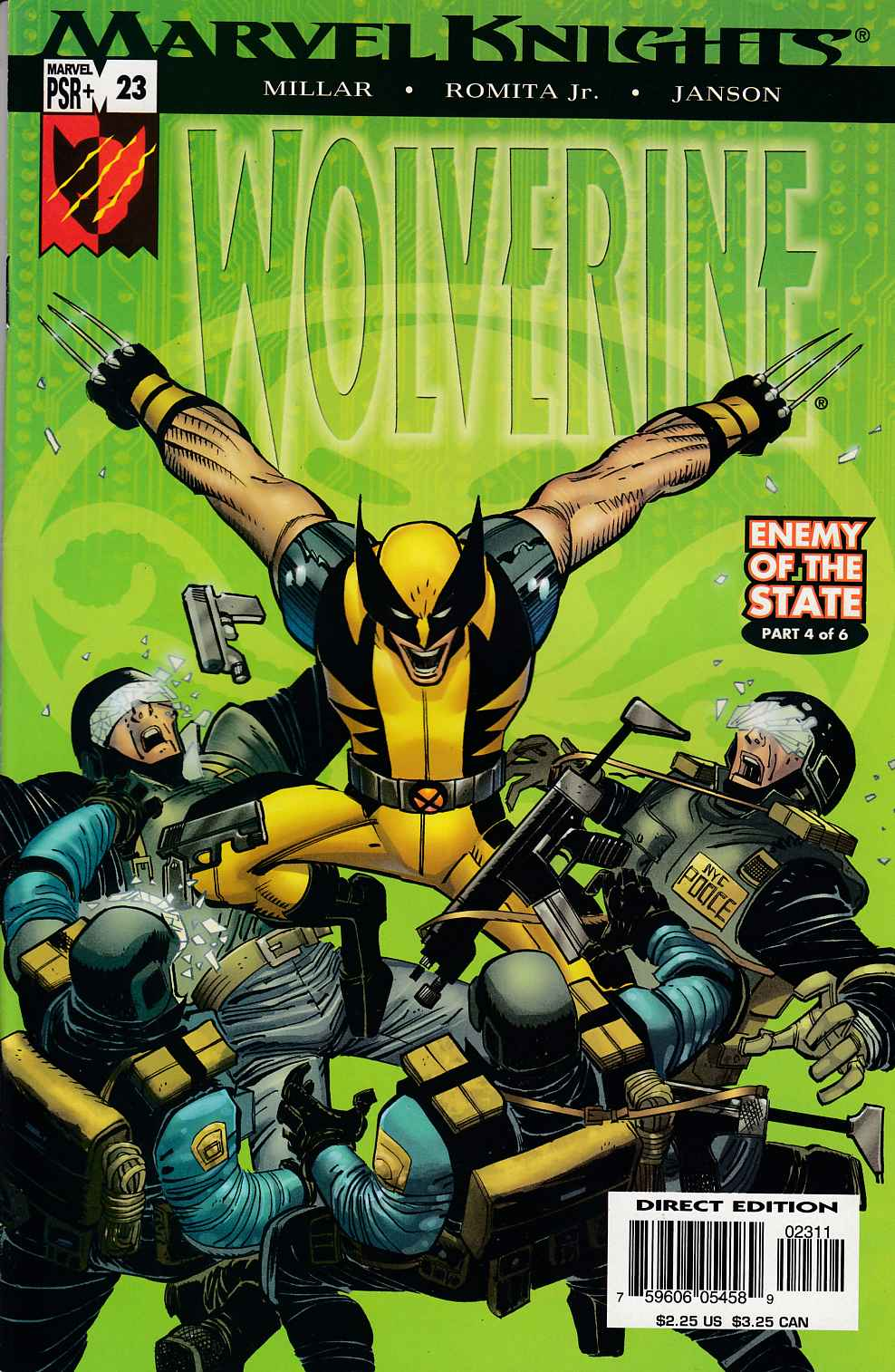 Wolverine #23 Near Mint Minus (9.2) [Marvel Comic] THUMBNAIL