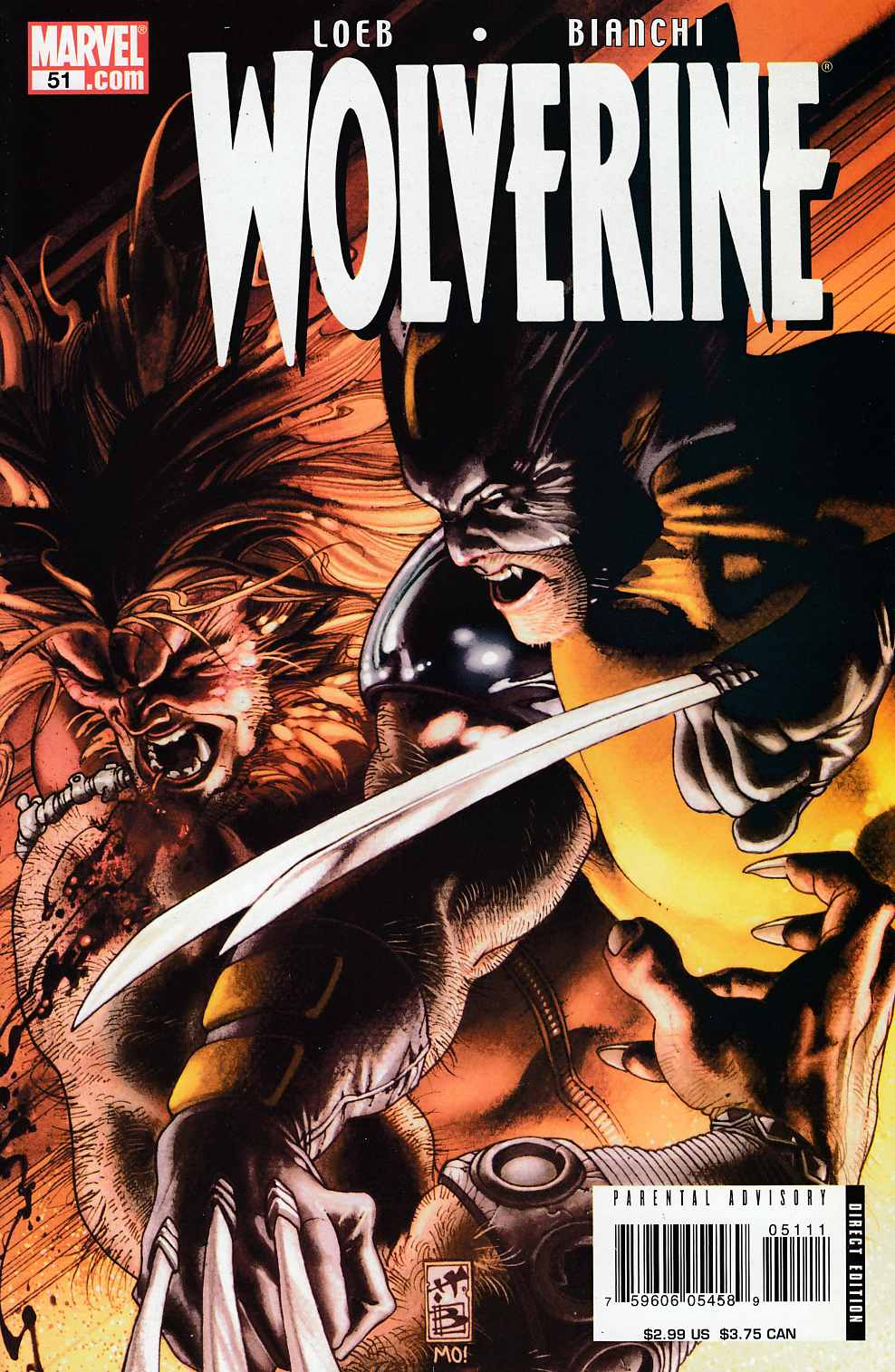 Wolverine #51 Near Mint (9.4) [Marvel Comic] LARGE