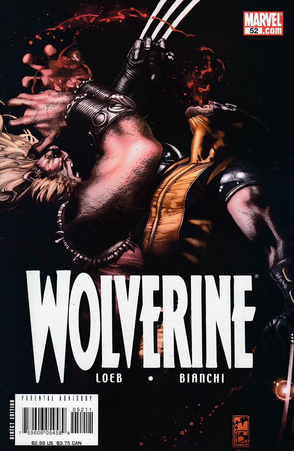 Wolverine #52 Near Mint (9.4) [Marvel Comic] LARGE