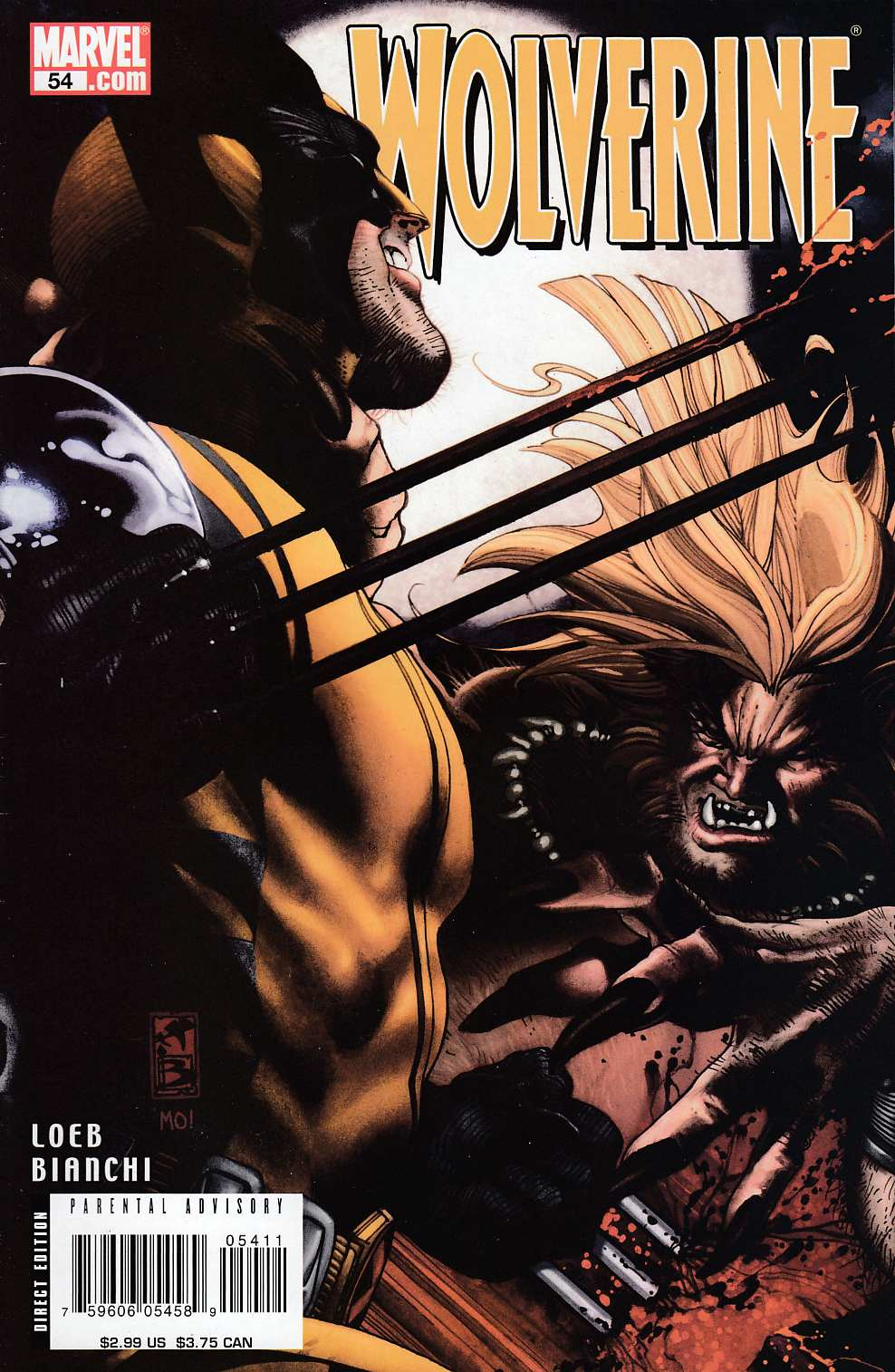 Wolverine #54 Very Fine (8.0) [Marvel Comic] LARGE