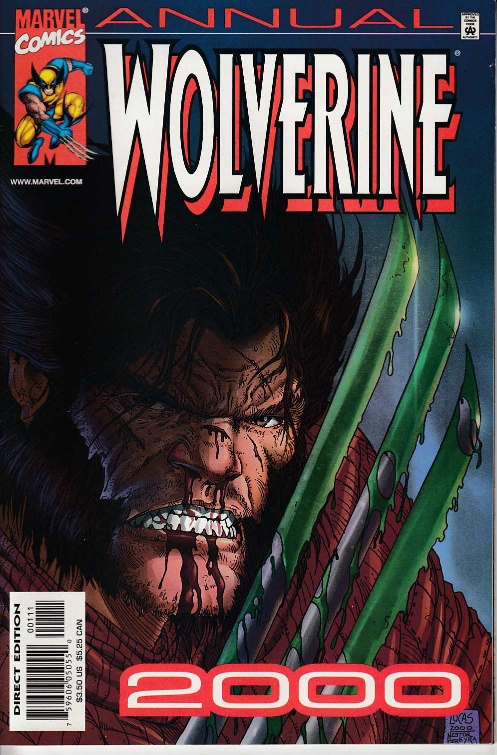 Wolverine Annual 2000 Fine (6.0) [Marvel Comic] LARGE