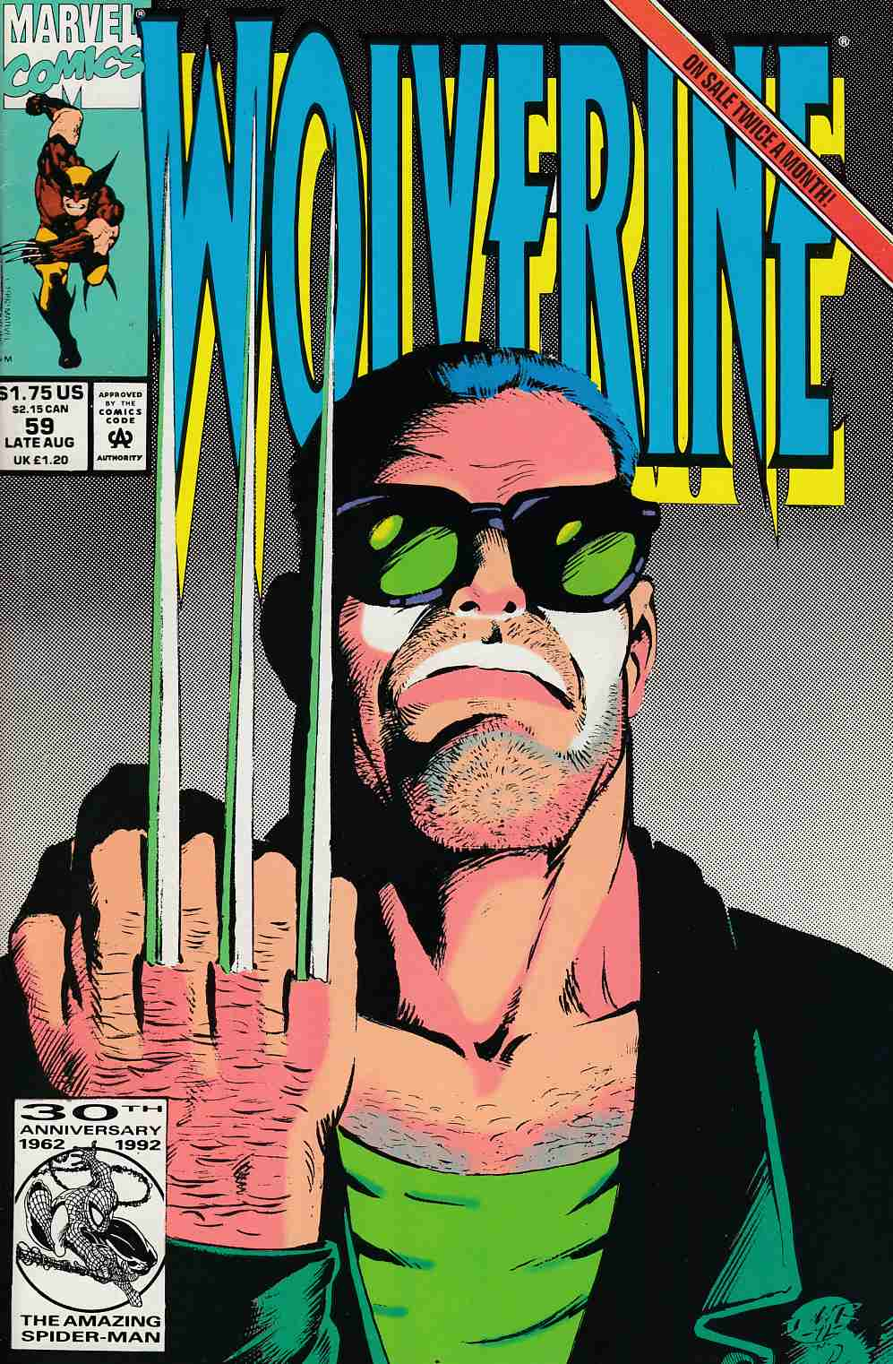 Wolverine #59 Near Mint (9.4) [Marvel Comic] LARGE