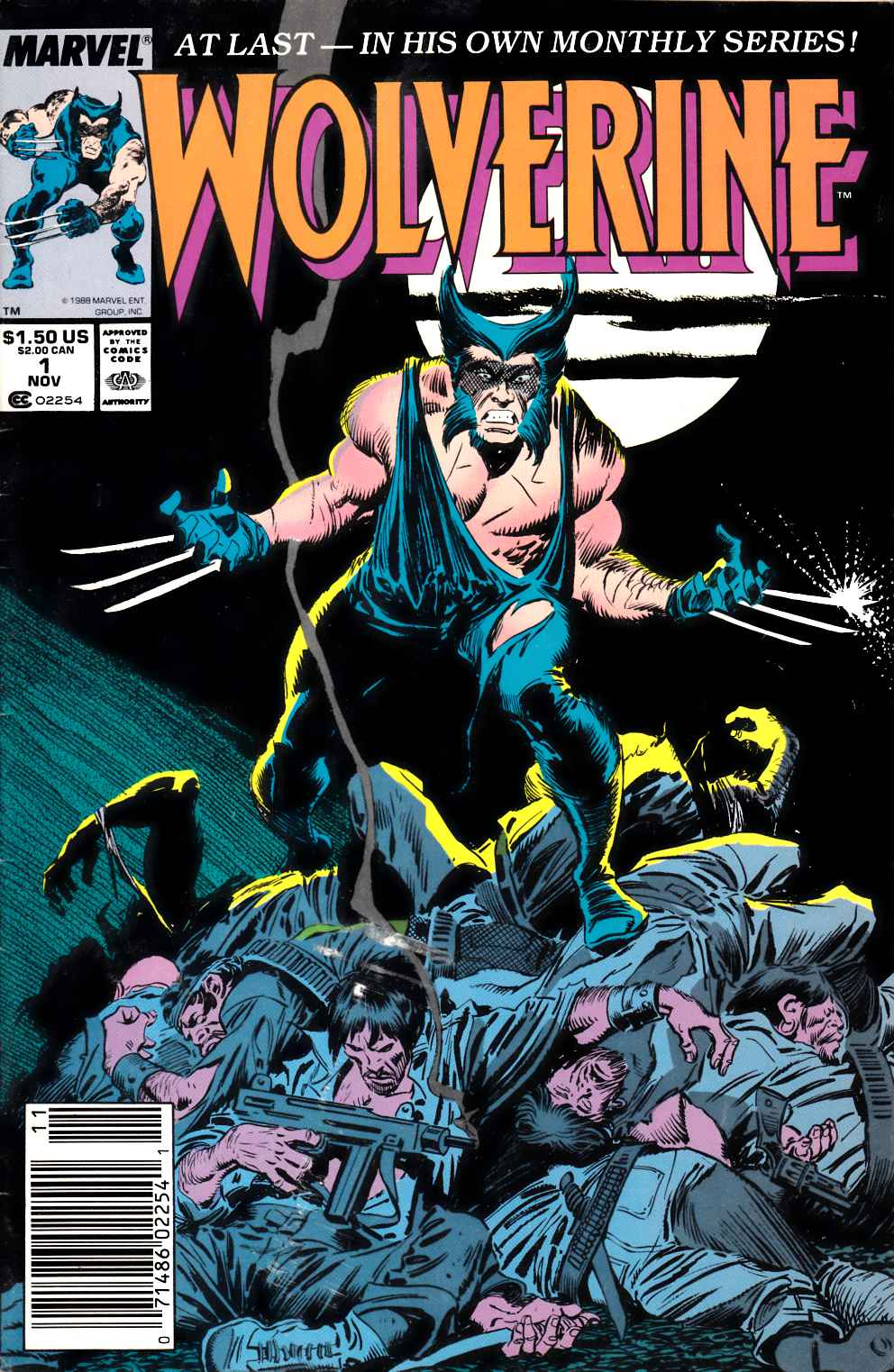 Wolverine #1 Newsstand Edition Very Good (4.0) [Marvel Comic]_THUMBNAIL