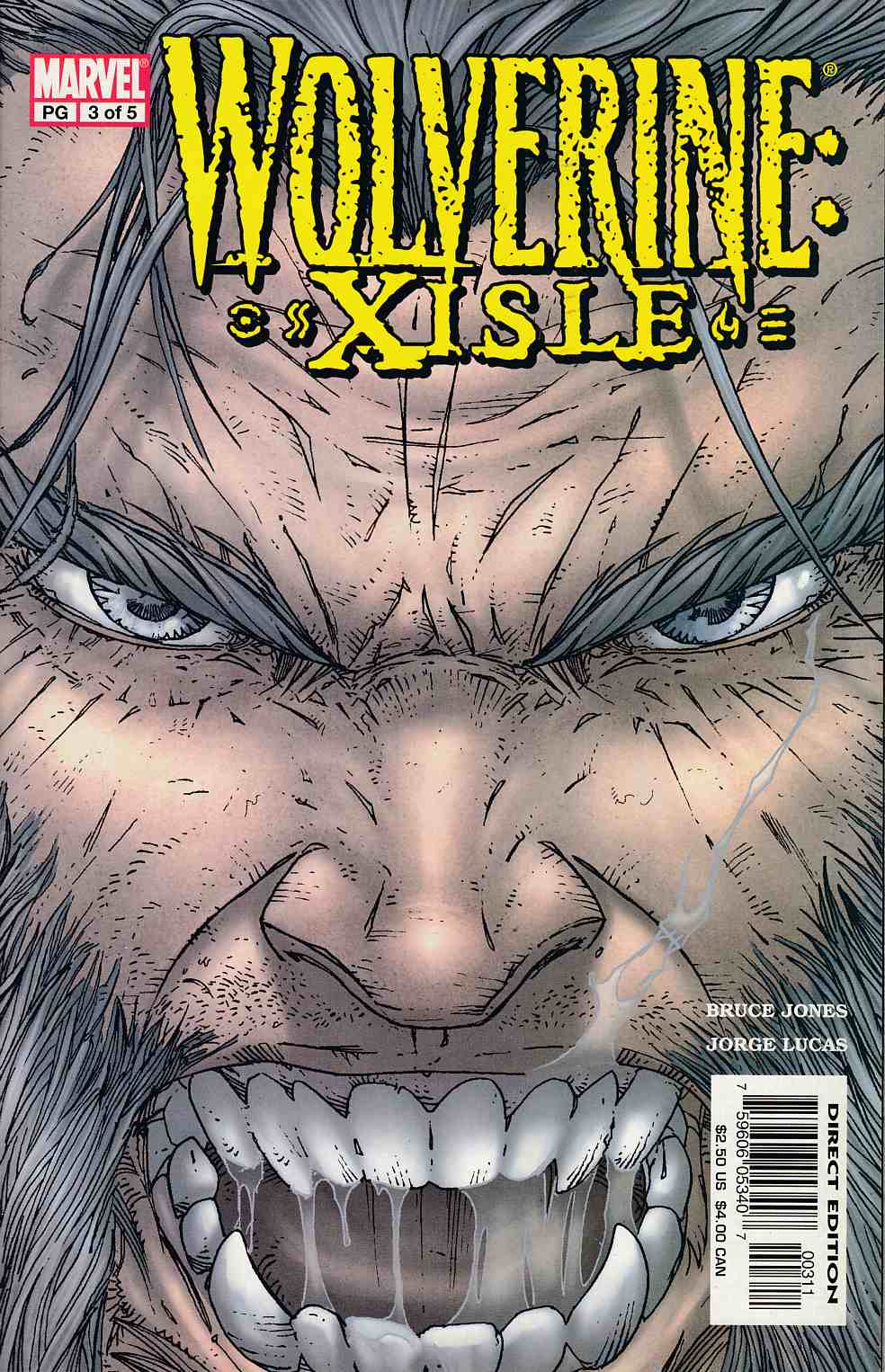 Wolverine Xisle #3 Near Mint (9.4) [Marvel Comic] LARGE