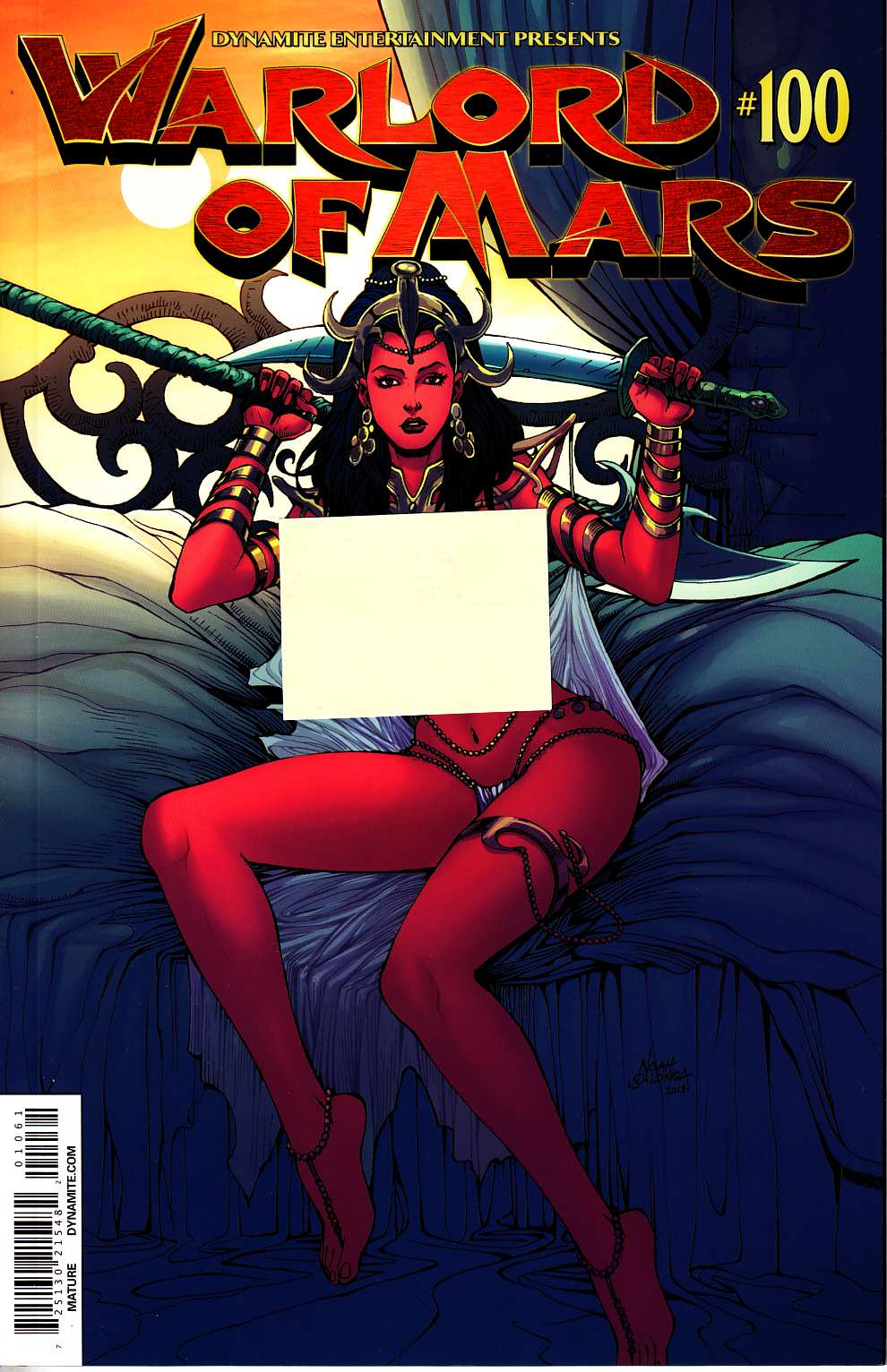 Warlord of Mars #100 Salonga Risque Variant [Dynamite Comic] THUMBNAIL