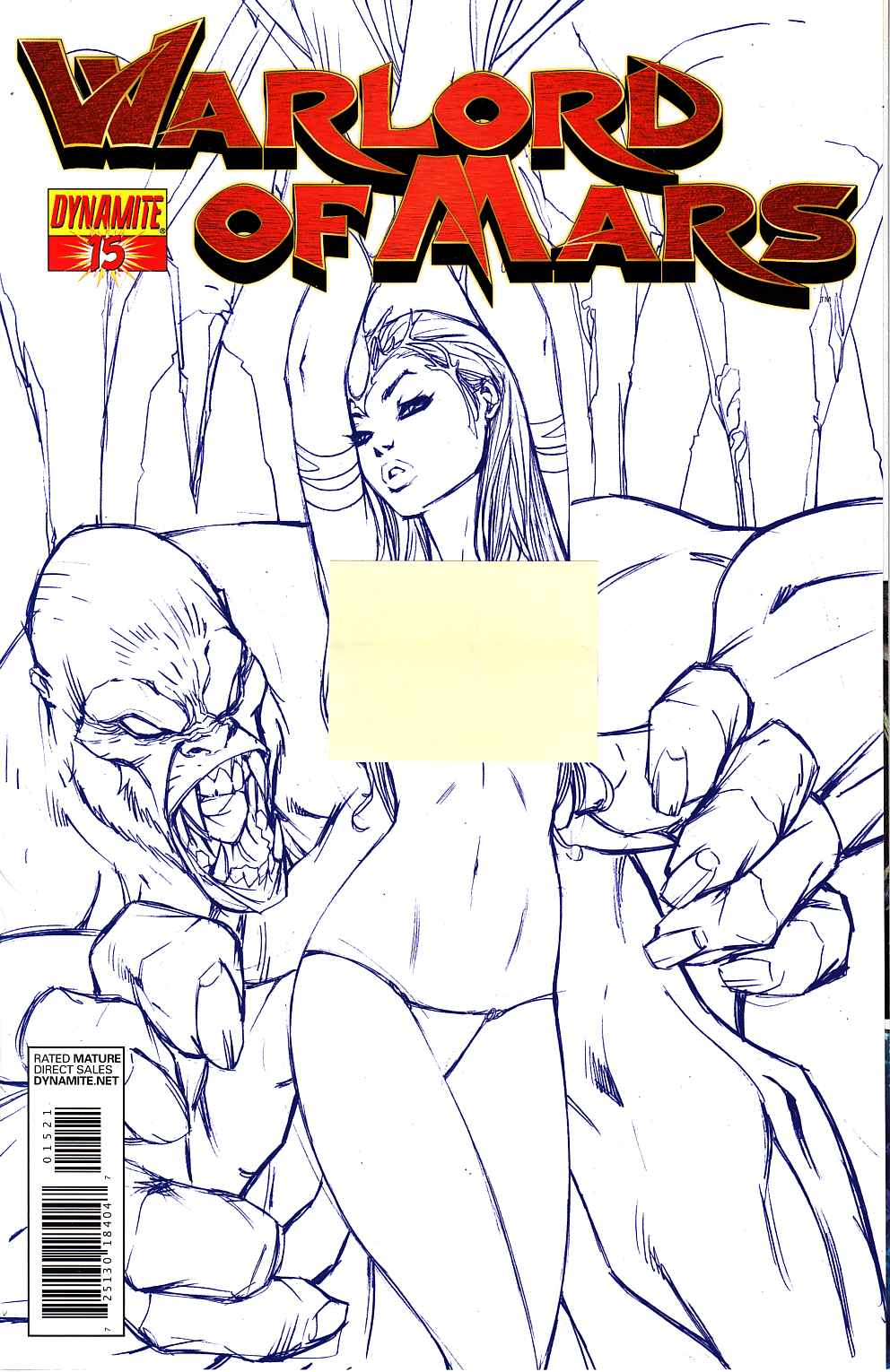Warlord Of Mars #15 Garza Blue Risque Variant Cover [Dynamite Comic] THUMBNAIL