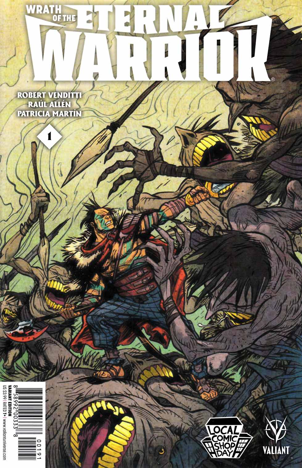 Wrath of the Eternal Warrior #1 LCSD 2015 Edition [Valiant Comic] THUMBNAIL