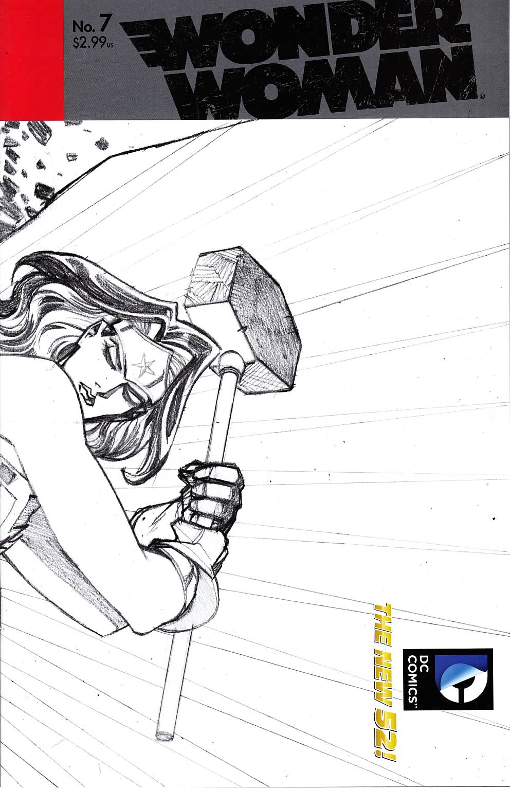Wonder Woman #7 Cliff Chiang B&W Variant Cover [DC Comic]