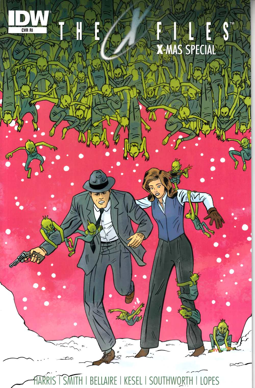 X-Files X-Mas Special 2014 (One Shot) Cover RI [IDW Comic] THUMBNAIL