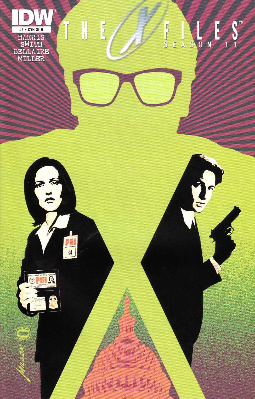 X-Files Season 11 #1 Miller Subscription Cover [IDW Comic] LARGE