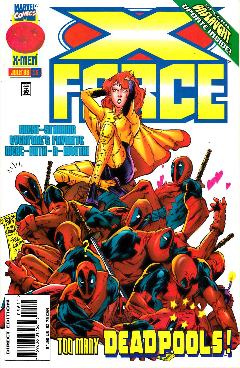 X-Force #56 Near Mint (9.4) [Marvel Comic] LARGE