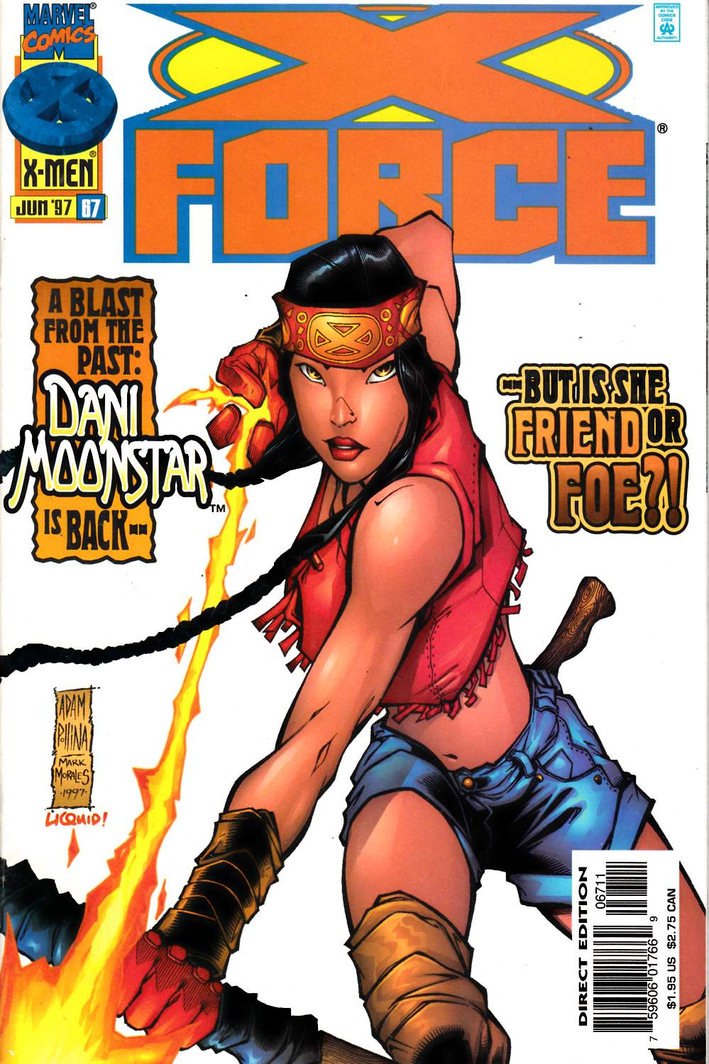 X-Force #67 Fine (6.0) [Marvel Comic] LARGE