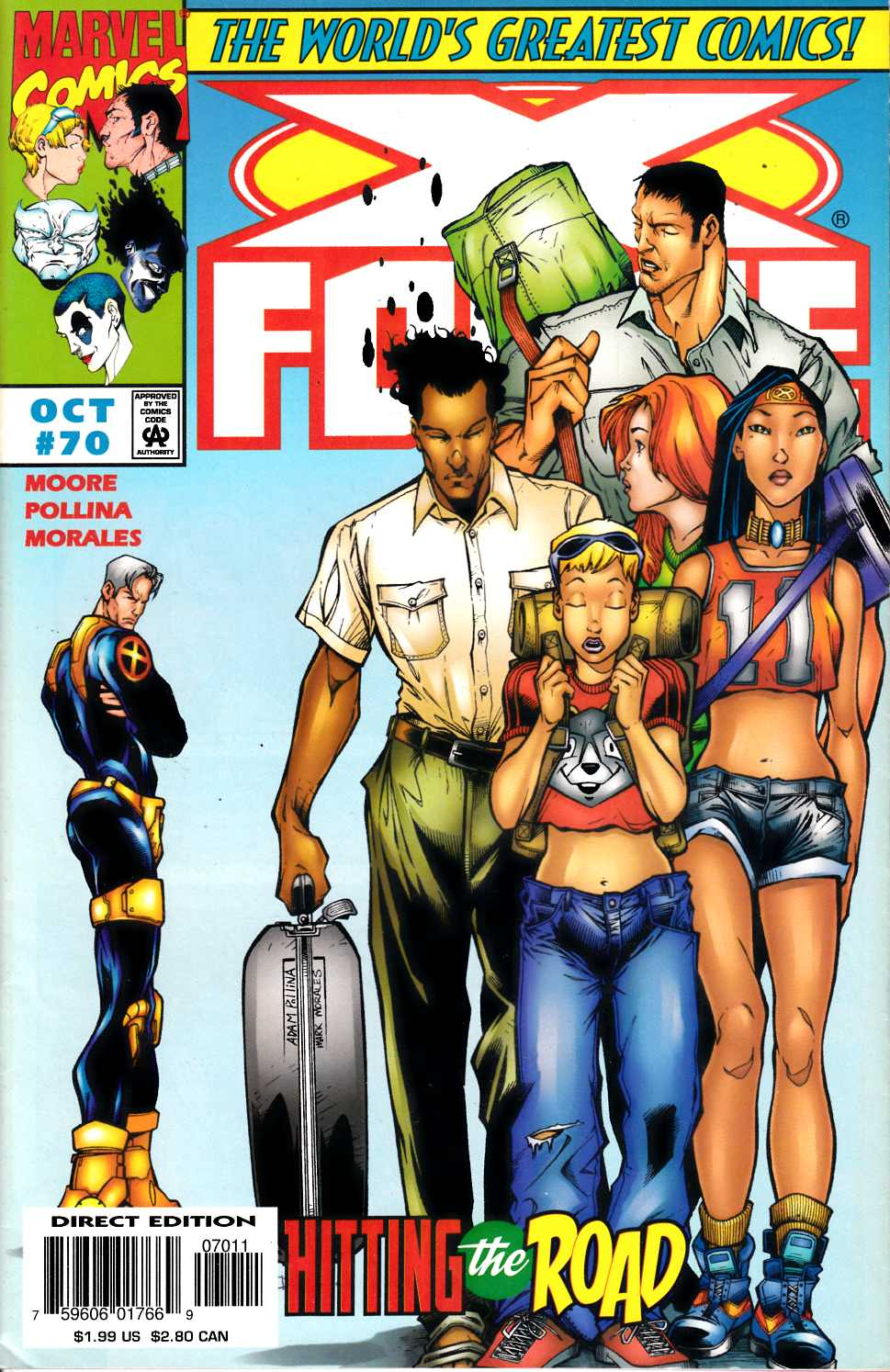 X-Force #70 Fine (6.0) [Marvel Comic] LARGE