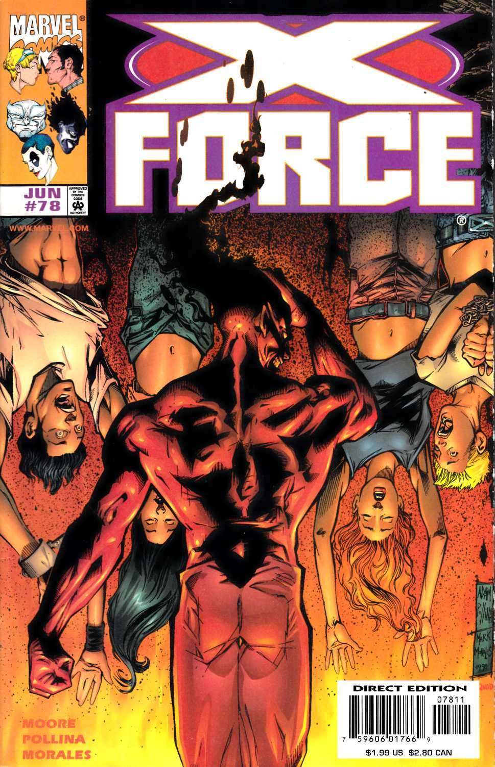 X-Force #78 Near Mint (9.4) [Marvel Comic] LARGE