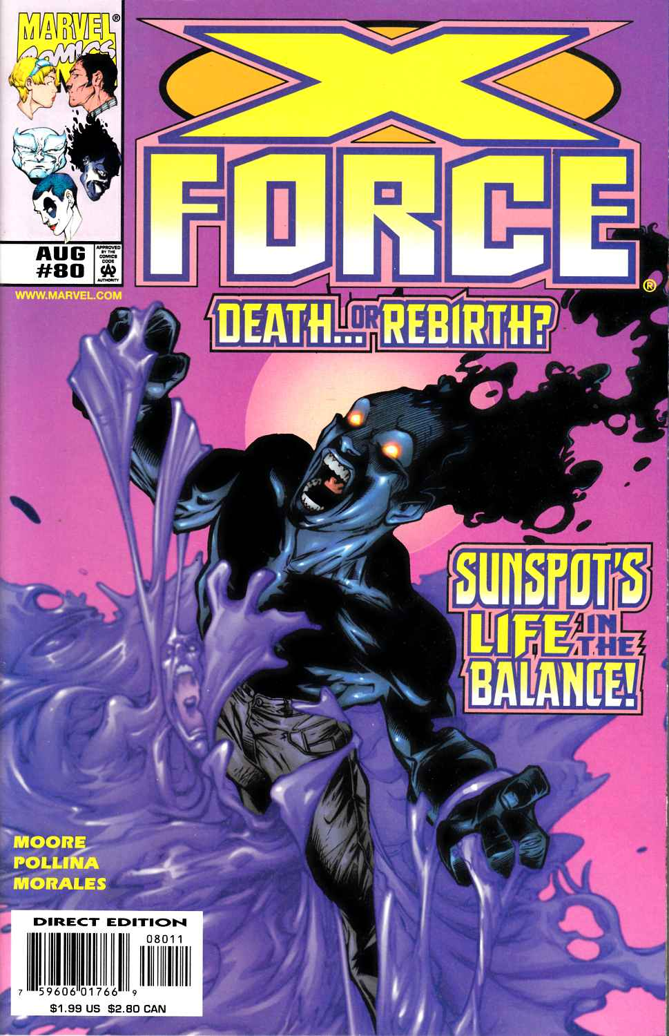 X-Force #80 Very Fine (8.0) [Marvel Comic] LARGE