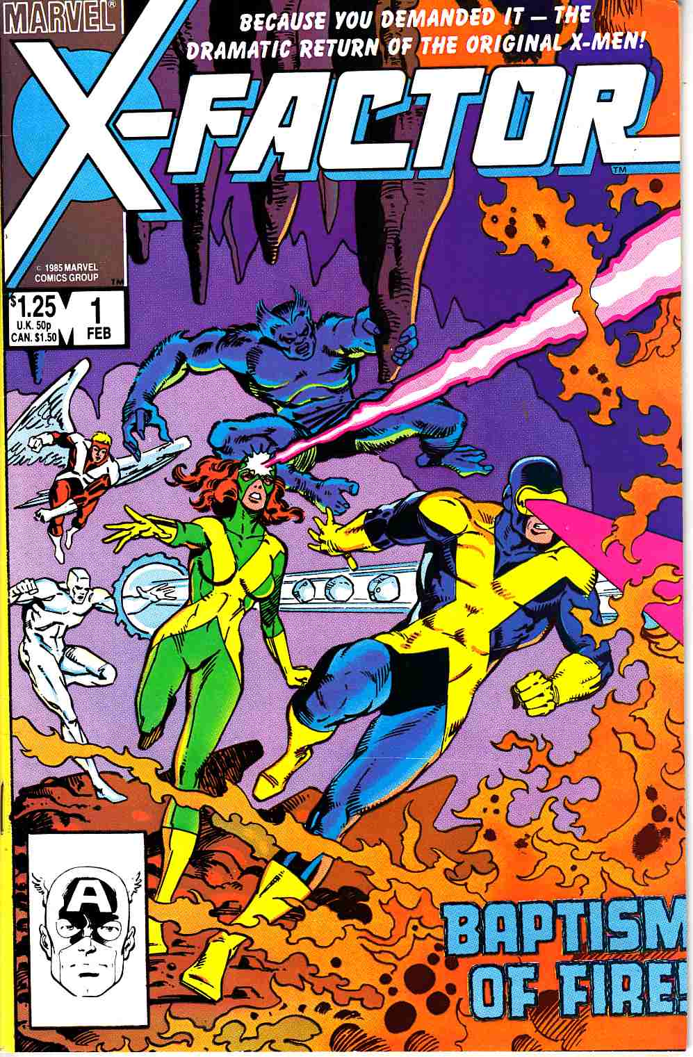 X-Factor #1 Fine Plus (6.5) Marvel Comic] THUMBNAIL